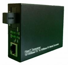 10/100M Media convertor, 1 fiber SM, LFP функция